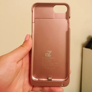 Rose Gold External Battery iPhone Case (iPhone7)